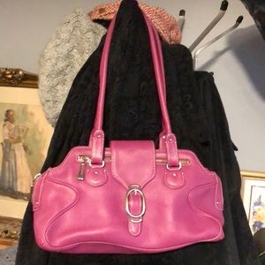 Cole Haan Alexa 👛 pink/purple leather satchel po4